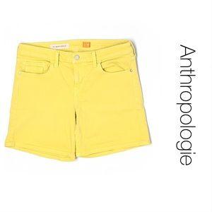 Anthropologie Pilcro Yellow Denim Shorts 26